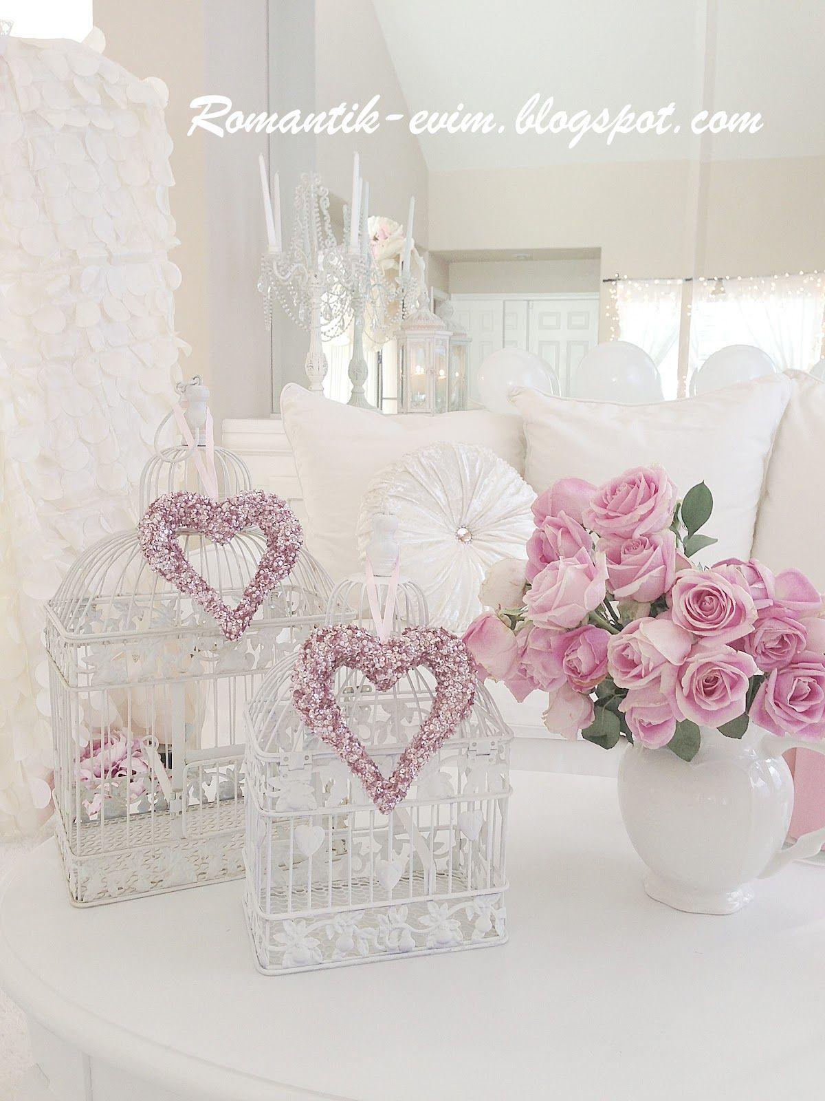 White Shabby chic decorating Shabby chic blog… | Romantic ...