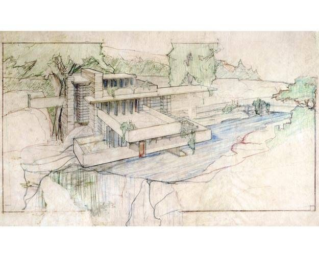Wright from the start regenland falling water frank lloyd wright lloyd wright et frank - Maison cascade frank lloyd wright ...