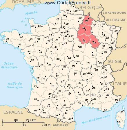 carte region Champagne-Ardenne