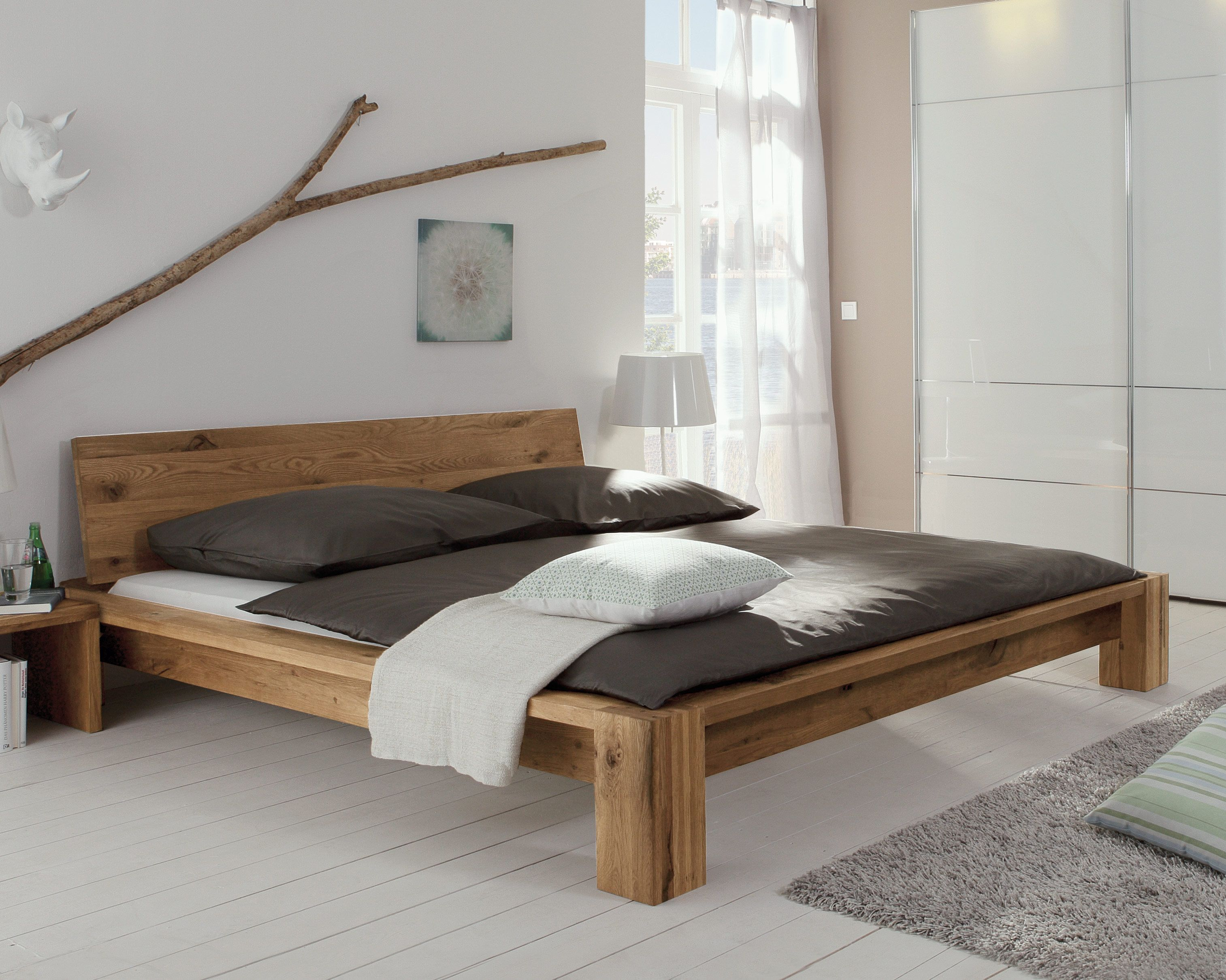 Schlafzimmer Holz Eiche Bett Quotperugia Quot In 2019 Massivholz Welt Bed Wood