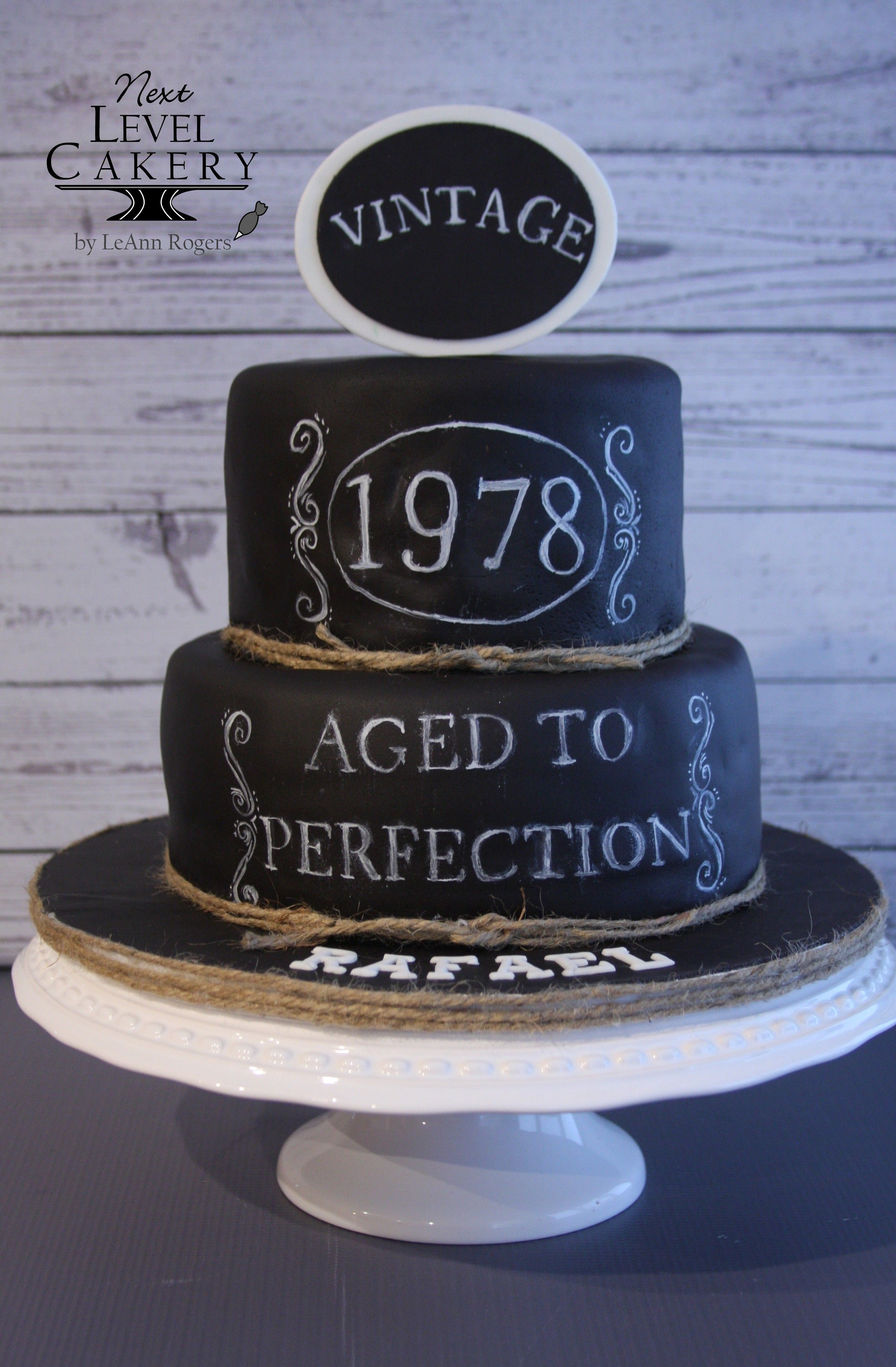 Vintage Cake Black And White Cake Chalkboard Cake With Images