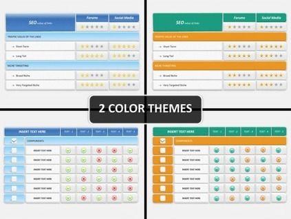 Comparison Tables PowerPoint Diagram PowerPoint Diagrams  Charts