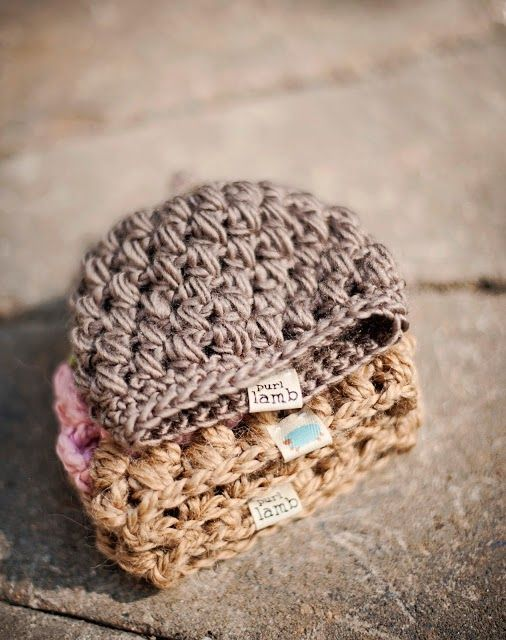 Purl Lamb Puffy Preemie hat (Crochet For Free) | Preemies, Crochet ...
