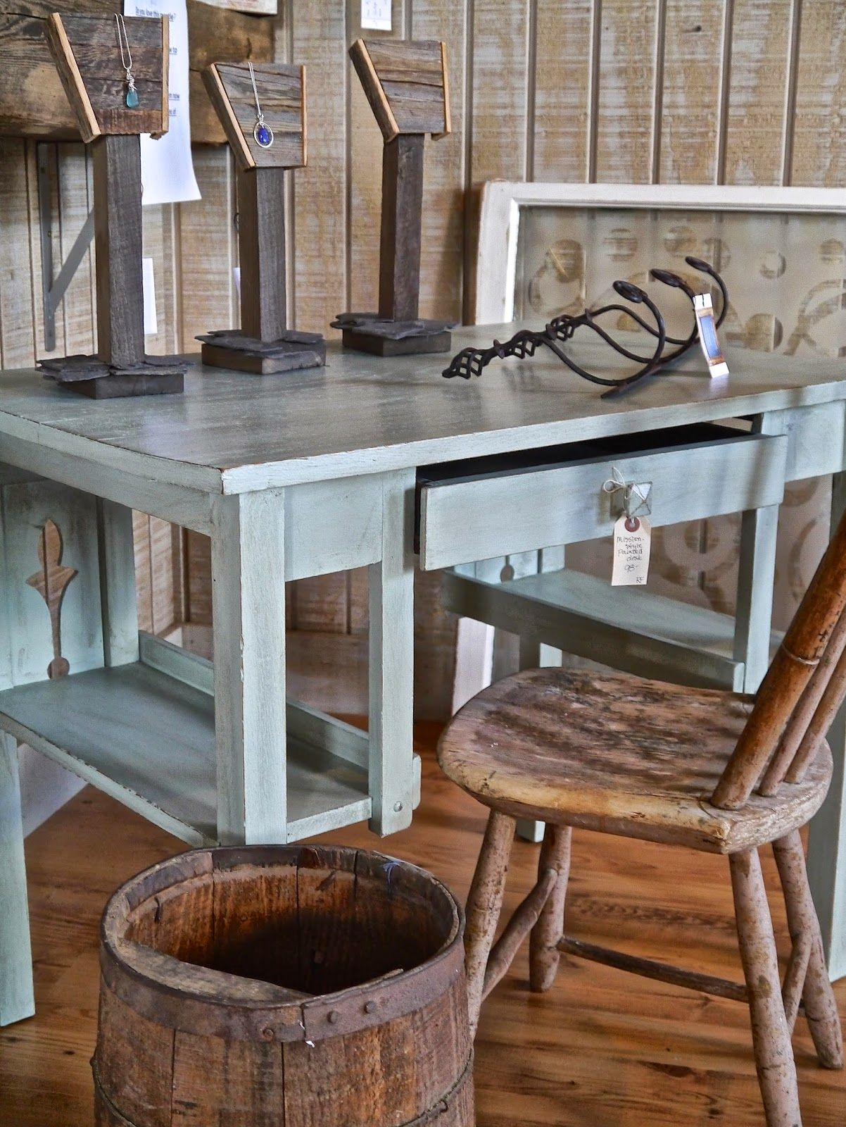 Painted Mission Style Desk Makeover Furniture Refinishing