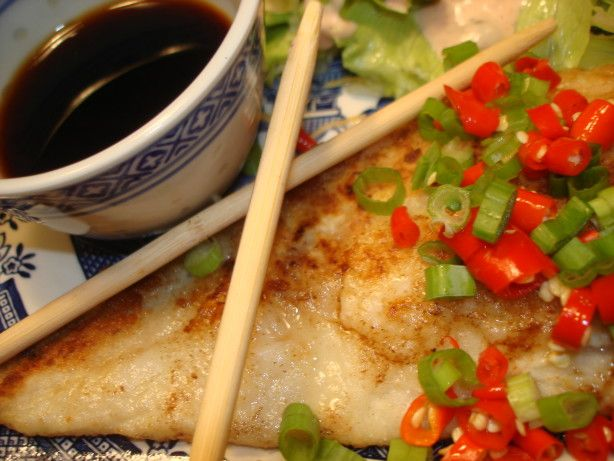 Pan Fried Cod With Asian Dressing Recipe - Food.com