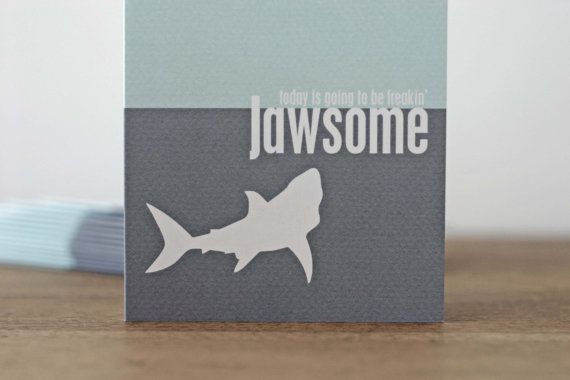 Funny Shark Birthday Greeting Card Humourous Jawsome Just Because