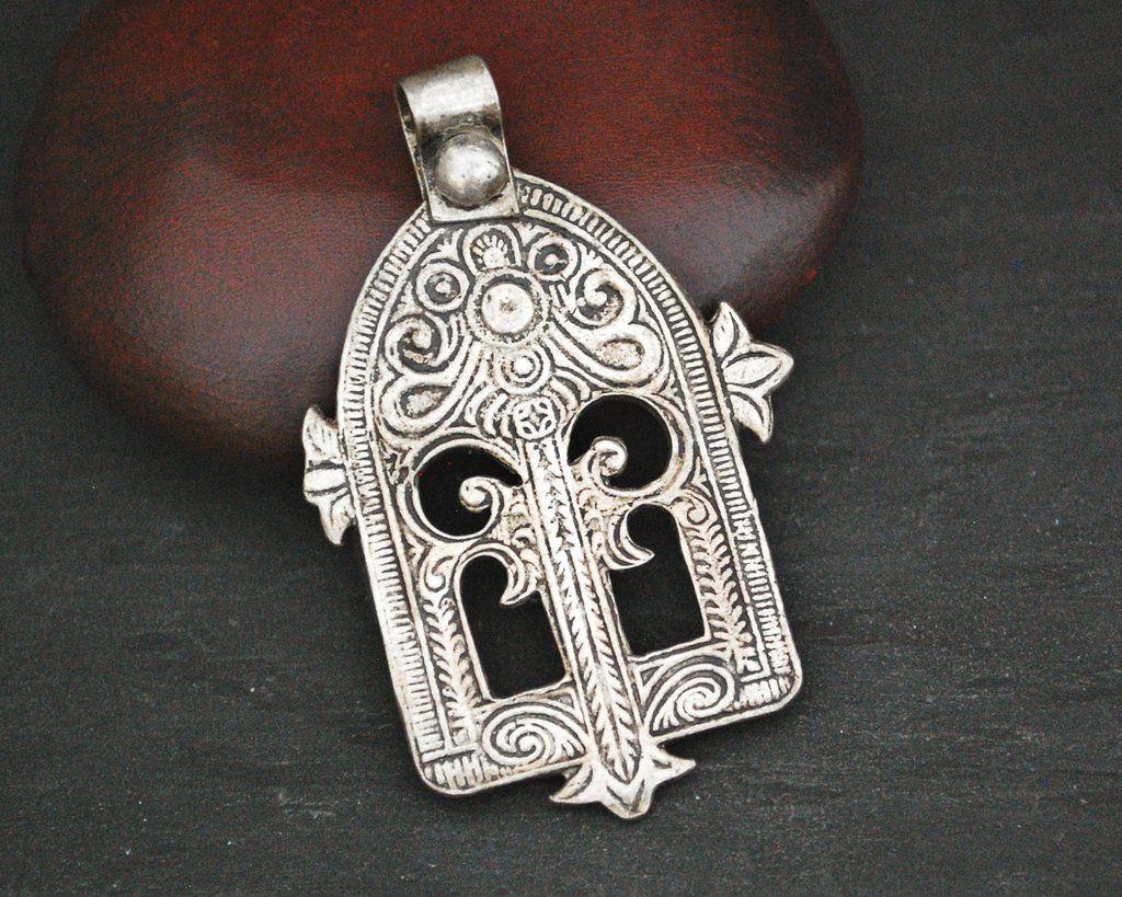 Tribal Tassel Amulet Vintage Silver Necklace Silver Amulet Necklace Prayer Vintage Amulet Pendant