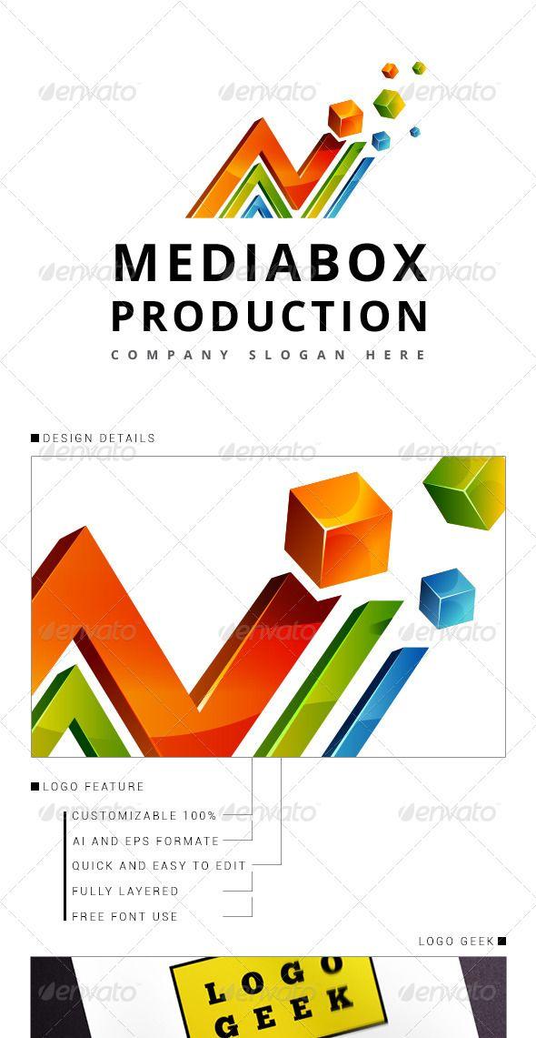 Media Logo 3D — Vector EPS #corporate #blue • Available here → https://graphicriver.net/item/media-logo-3d/8344038?ref=pxcr