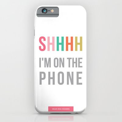 Buy shhh by Miss Modern Shop as a high quality iPhone & iPod Case. Worldwide shipping available at Society6.com. Just one of millions of products…