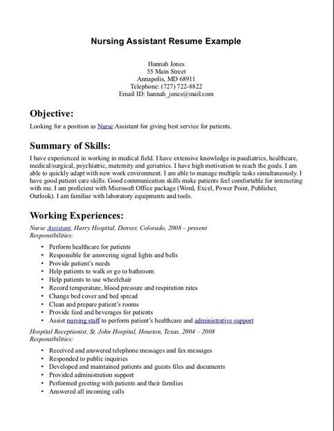 pin on cna resume sample