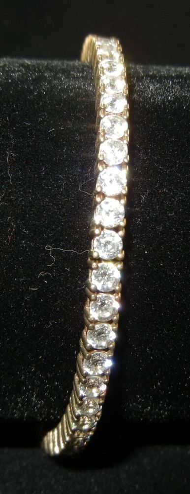 925 Sterling Silver Cz Gold Overlay