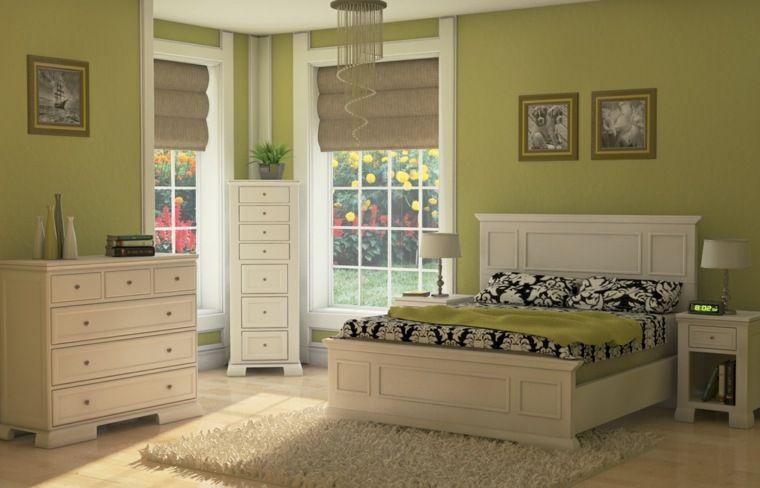 Chambre verte, vert d\'eau, verte et blanche ou vert gris | Chambre ...