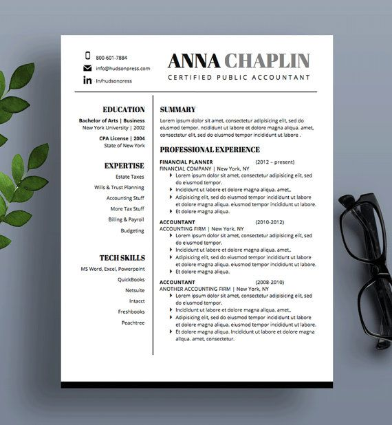 Professional Resume Template | CV and Cover Letter ...