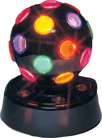 Disco Ball - turn off the lights and enjoy the dancing lights. Looks great  in