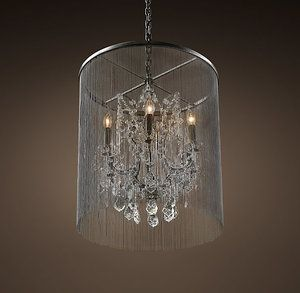 Vintage Veiled Crystal Chandelier Pendant Lighting Solutions Nz