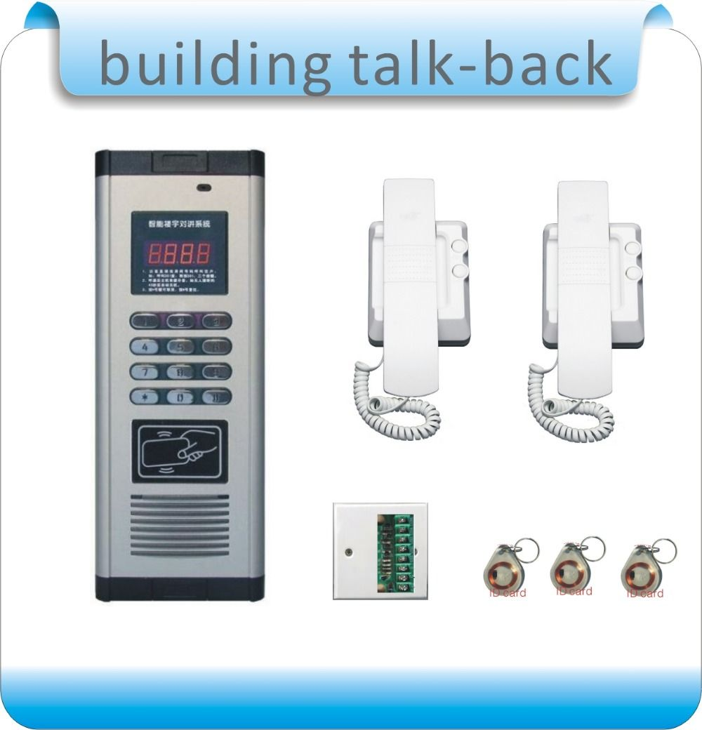 Free Shipping Diy Rfid Building Intercom System Extension Non Visual Doorbell Indoor Machine Building Door Switch Access Control Access Control System System