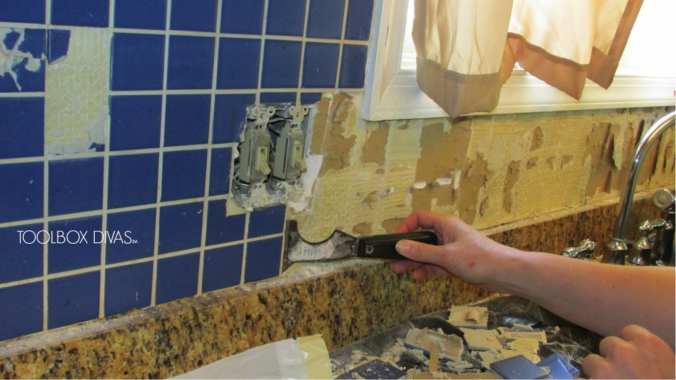Tile removal 101 remove the tile backsplash without damaging the tile removal 101 remove the tile backsplash without damaging the drywall dailygadgetfo Image collections