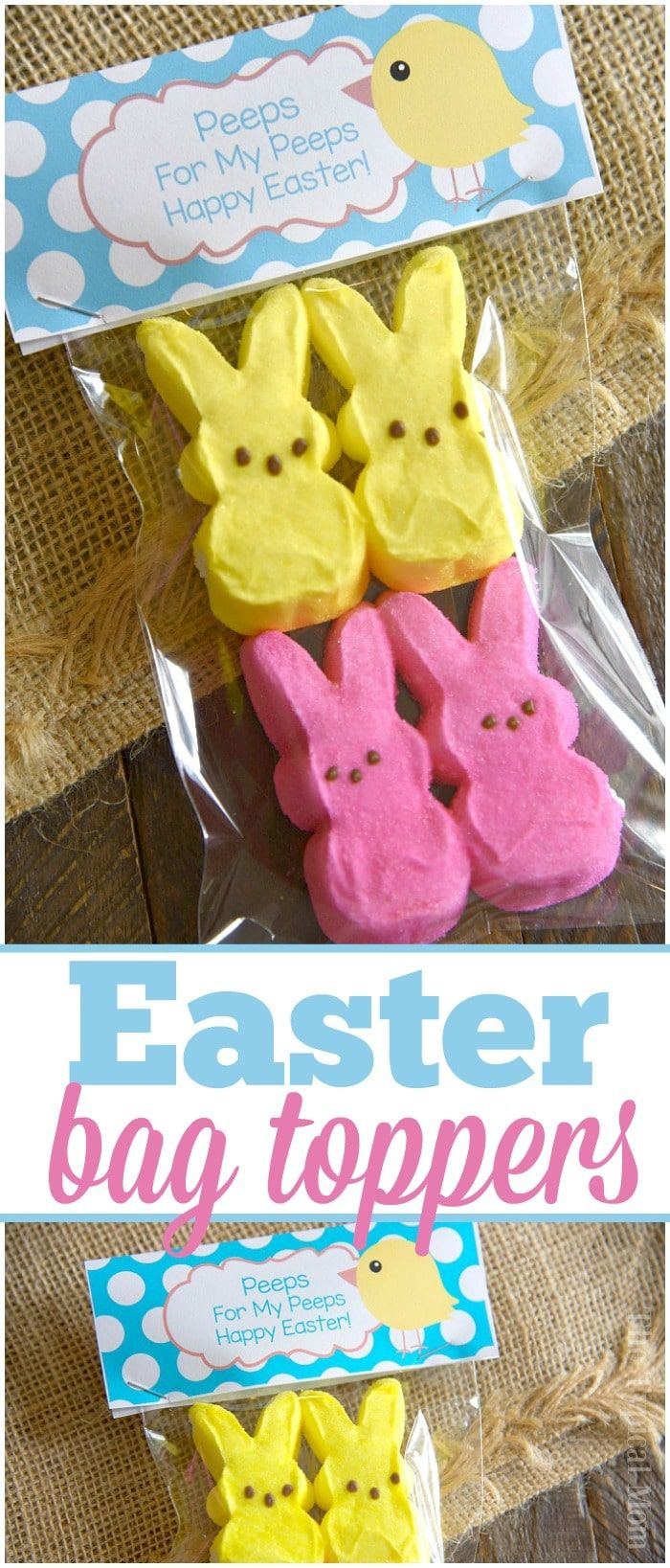 Free Easter Treat Bags And Bag Toppers Printable To Make