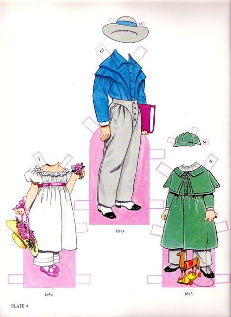 "Las Recortables de Veva e Isabel: Children´s Fashions Fram ""Godey´s Lady´s Book"""