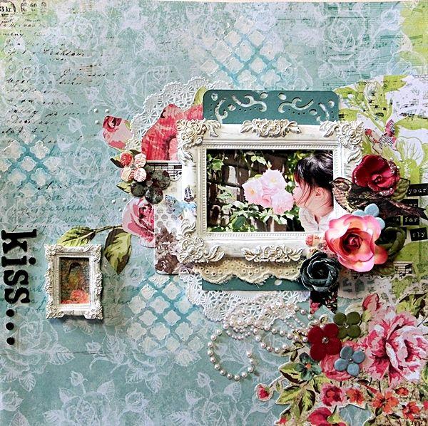 kiss...  *My Creative Scrapbook Limited edition Kit June 2014 Limited edition Kaisercraft-Kaleidoscope Yuko Tanaka