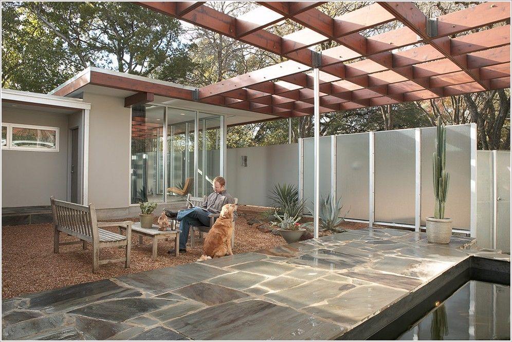 Mid Century Modern Pergola Google Search House Patio In