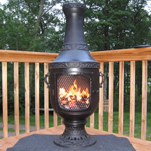 Venetian Chiminea From The Blue Rooster Cast Iron Chiminea