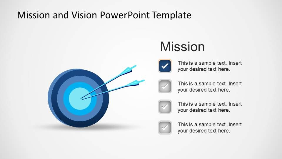 Mission and Vision PowerPoint Template | Template and Diagram