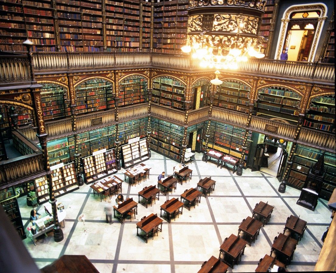 The Real Gabinete Português de Leitura, one of the most famous Brazilian libraries situated in Rio de Janeiro, was founded in 1837 by a group of forty-three Portuguese immigrants, political refugees, to promote national culture within the Portuguese community in the capital of the Empire of the time.