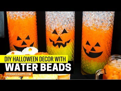 Candy Corn Water Beads Halloween Vase Filler Idea Dee Dee