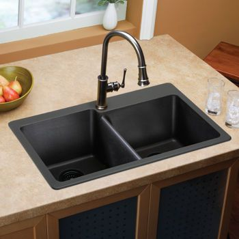 Costco Elkay Egranite Double Bowl Sink Kitchen Remodel - Costco kitchen remodel