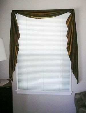 Make A Fishtail Valance Simple Curtains Swag Curtains Valance
