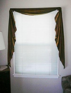 Make A Fishtail Valance Simple Curtains Swag Curtains Valance