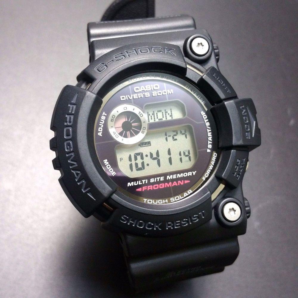 d438121a1b8 G-SHOCK FROGMAN GW-200BC-1JF BLACK HELIOS ALL BLACK FROGMAN GW-200 SERIES   GSHOCK  RAREFROGMAN