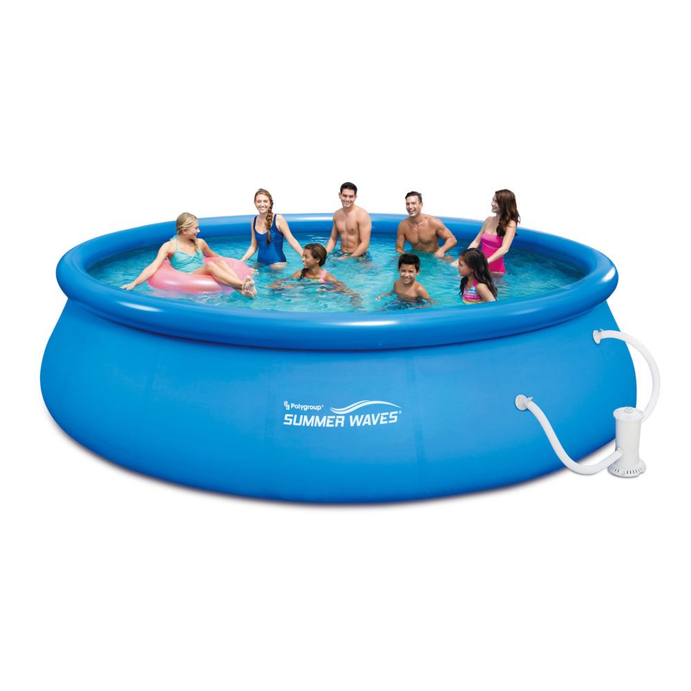 Swimming Pool with Filter Pump System 16\' x 48\