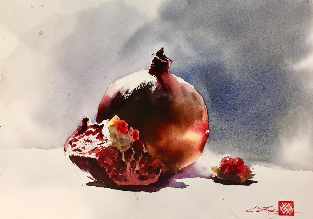 Watercolor lesson with #ekaterina_sava_art ! #studio #art ...