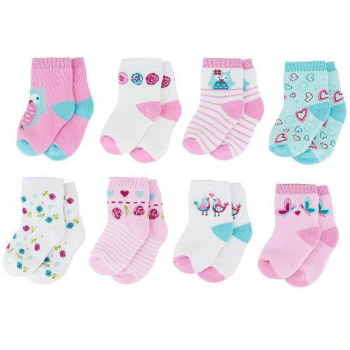 Babies R Us Girls 8 Pack Socks Pink Blue Babies R Us Babies R Us 9 99 Baby Girl Accessories Baby Girl Shoes Baby Socks