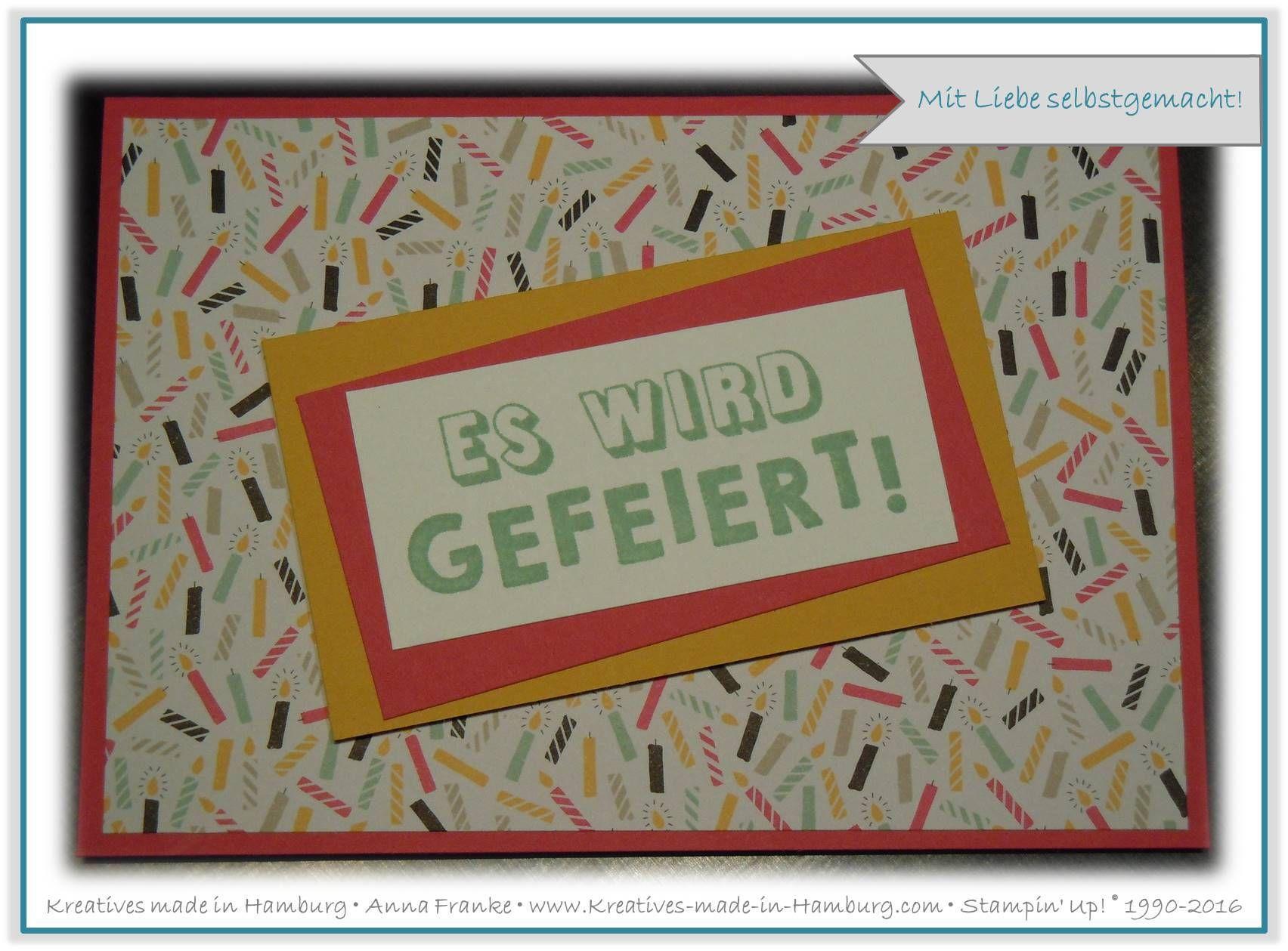 Geburtstagskarte - Birthday card: Die verwendeten Farben sind ...
