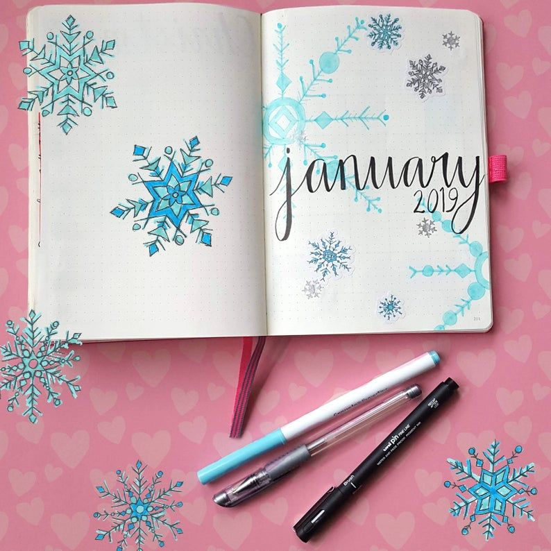 Bullet Journal Planner Stickers - Snowflakes