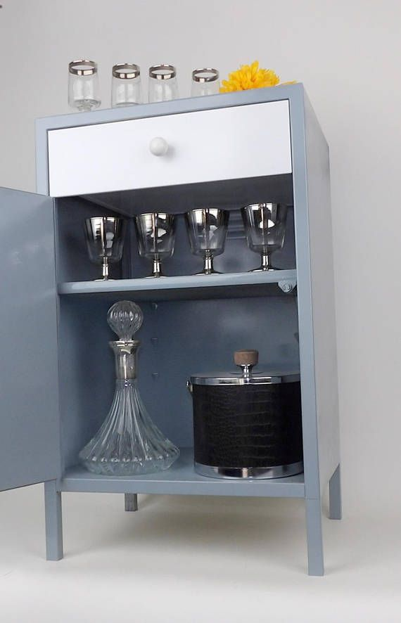 Bar Cart Bar Cabinet Wine Barware Storage Coffee Station Barcart Gray White  Shelf Living Room Entertaining