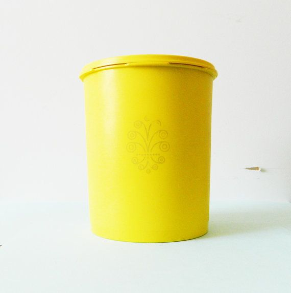 Mellow Yellow Kitchen Canister By AmeliaBedeliaVintage On