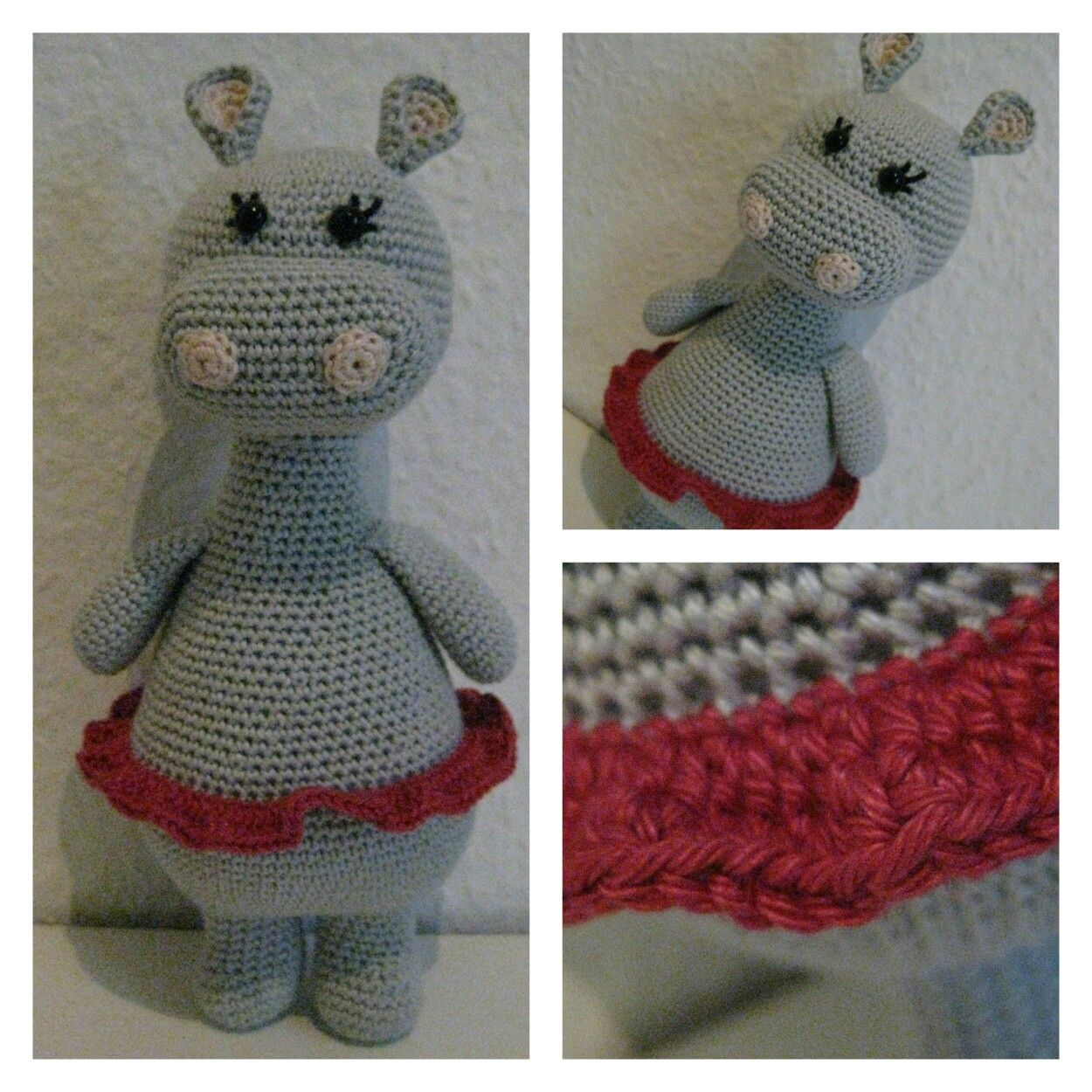 Ravelry: Ballerina Hippo pattern by Paola Navarro   1250x1250