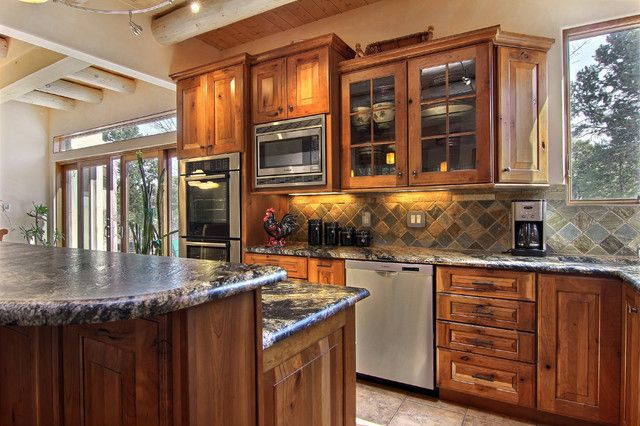 Two Trails Rustic Kitchen Albuquerque By Roasted From Albuquerque Kitchen Cabinets
