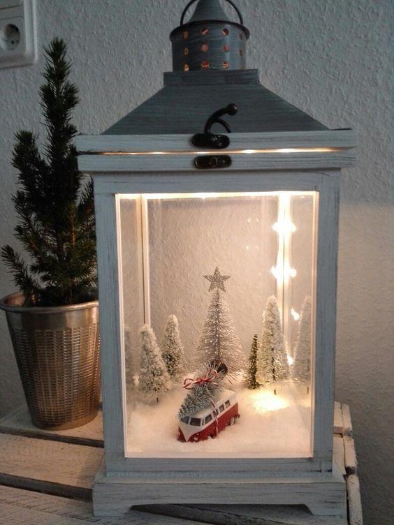 40+ Unique DIY Christmas Lantern Decoration Ideas