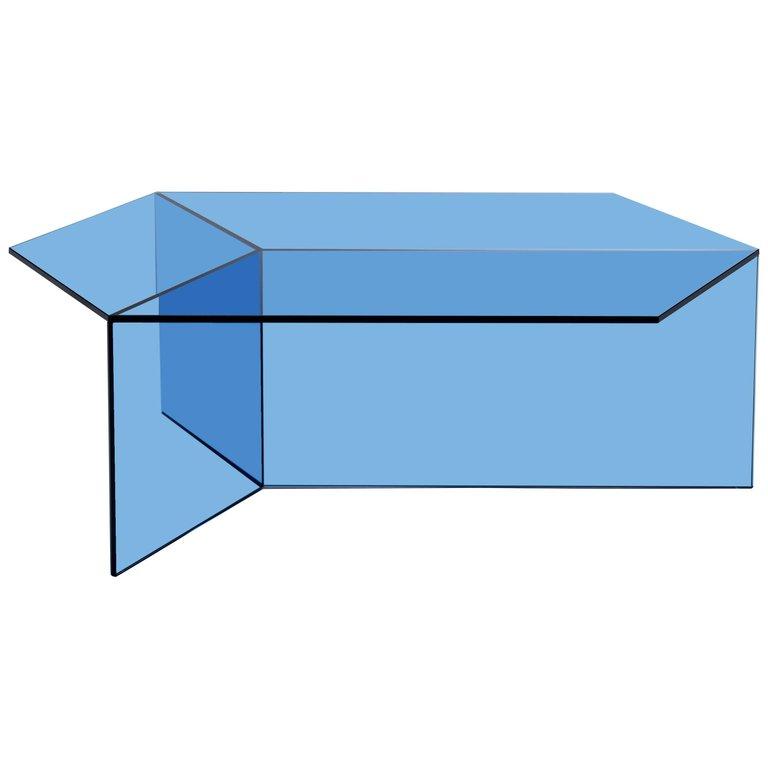 Isom Oblong Blue Side Table By Sebastian Scherer For Neo Craft