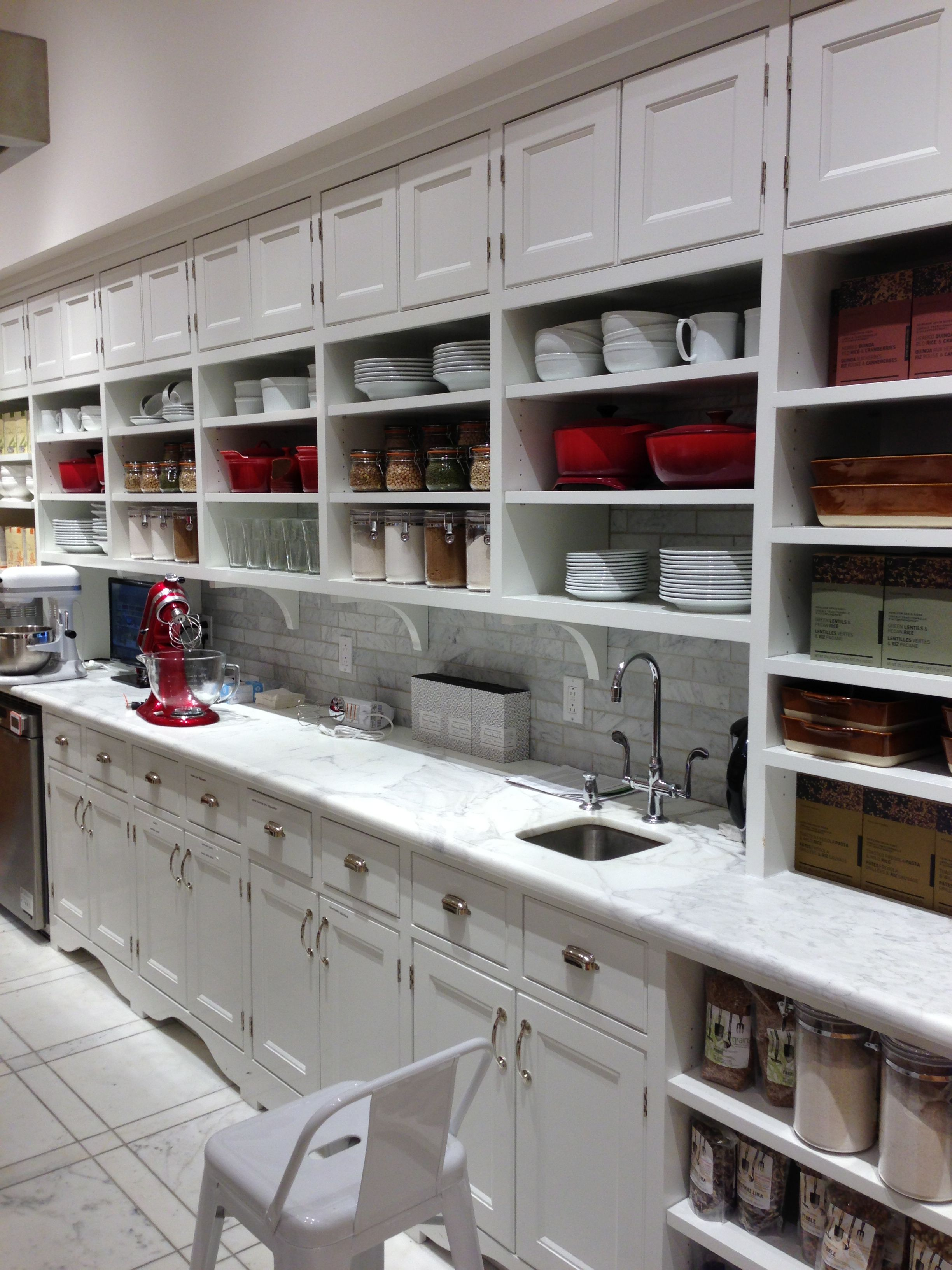 williams sonoma imagine running a cooking school with this with images home kitchens on kitchen organization dishes id=31382
