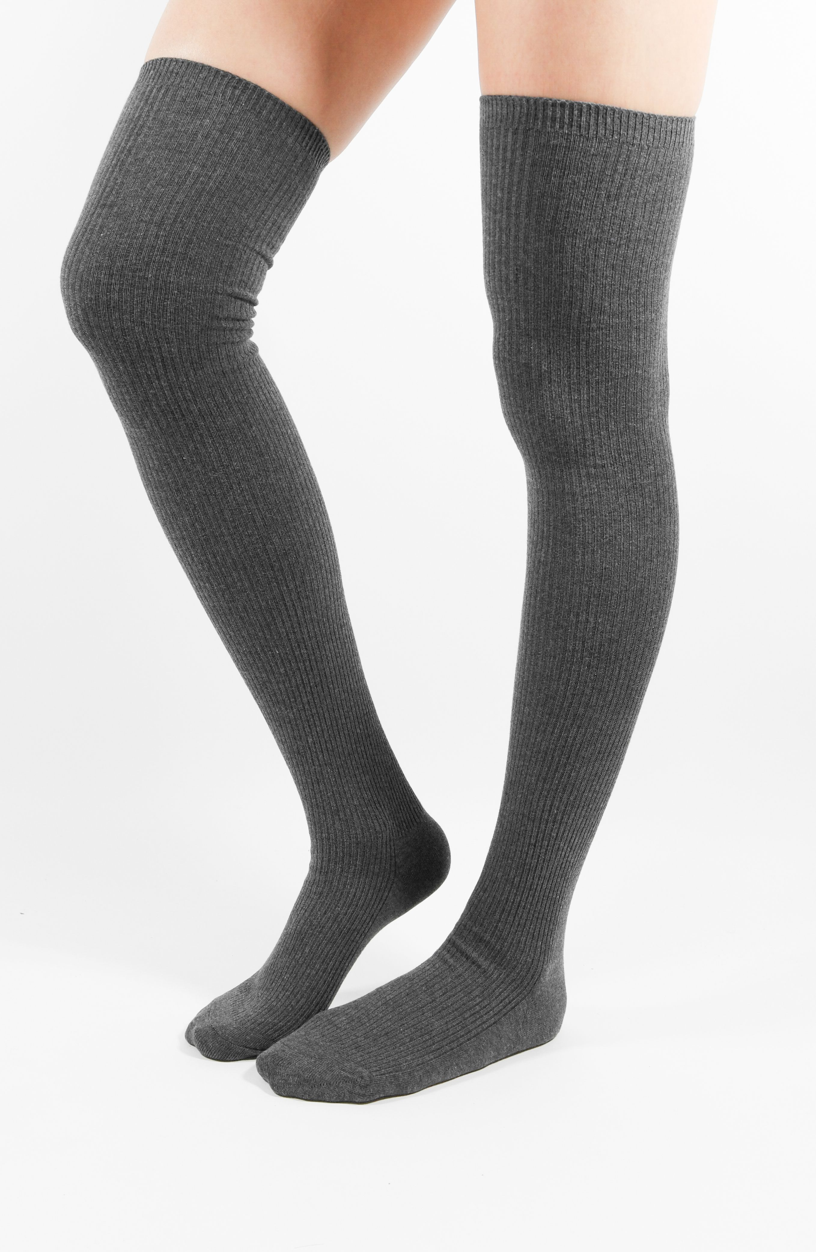 Women/'s Cotton Thigh High Winter Warm Booties Knitted Over Knee Socks Stockings