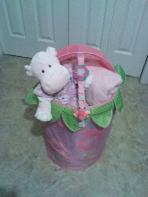 Baby Girl Flower Basket