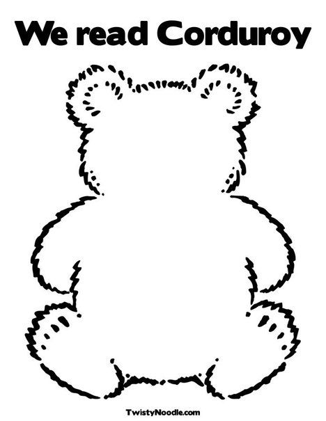 Corduroy Bear Pattern | corduroy the bear template | Beginning of ...