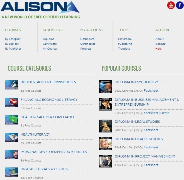 Free Online Courses that give Certificates upon Completion | Online ...