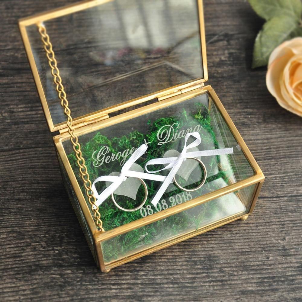 Personalized Wedding Ring Box Rustic wedding rings
